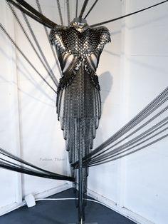 Fannie Schiavoni Metal Dress at London Fashion Week