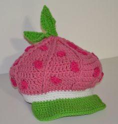 Strawberry Shortcake Girl's Newsboy Hat pattern