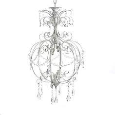 Kleiner Kronleuchter SOPHIE Einarmig Weiß Mit Kristallen H44cm Lüster  Deckenlampe Deckenleuchte,  Http://www.amazon.de/dp/B00EMAAYHI/refu003dcm_sw_r_pi_u2026