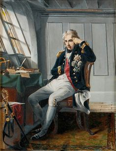 Viscount Horatio Nelson, before the Battle of Trafalgar, 21 October 1805 - National Maritime Museum Uk History, Naval History, British History, Military History, George Nelson, Hms Victory, Cultura General, Man Of War, Viscount