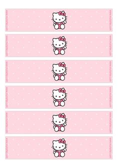 Imprimibles Hello Kitty rosa - www.susaneda.com