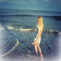 JAYDA TEXAS 16 year old singer/songwriter. Enjoying the beach in New Jersey.