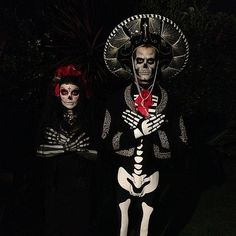 Josh Duhamel and Fergie as a Day of the Dead Couple