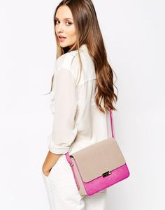 Увеличить French Connection Hallie Contrast South Beach & Mink Shoulder Bag