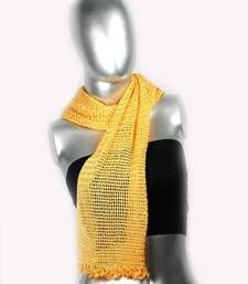 Buy Silky Crochet Stole | Orange scarf online