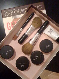 BareMinerals. you can buy it at Soderstrom's locally.  It feels great and natural!