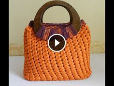 Tutorial video punto spiga o punto Sery all'uncinetto per fettuccia | Fondo pronto per borse | DIY crochet stitch | bolsos en trapillo
