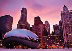 The Bean at Dusk (by christopherdale)