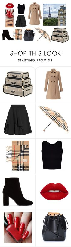 """Paris Vacation"" by j1ndec1s1ve ❤ liked on Polyvore featuring Eichholtz, Miss Selfridge, Lonely Planet, Alexander McQueen, Burberry, Yves Saint Laurent, Lime Crime and N°21"