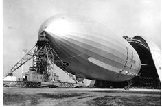 The Macon at Hangar One at Moffett Field in 1934. Photo: Handout
