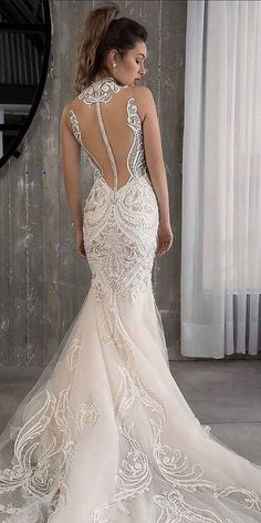 Mermaid Wedding Dresses - Lace wedding dresses have always been popular among brides. See every unique lace wedding dresses that will make you look amazing for your wedding! Country Wedding Dresses, Sexy Wedding Dresses, Bridal Dresses, Wedding Gowns, Lace Wedding, Spring Wedding, Wedding Bride, Wedding Wishes, Wedding Rings