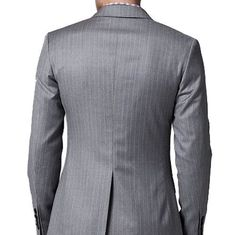 http://chicerman.com - Gray pinstripe tailored suit