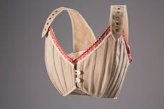 Bust Supporter (Proto-Brassieres): ca. 1905, French, natural linen, cotton trim.