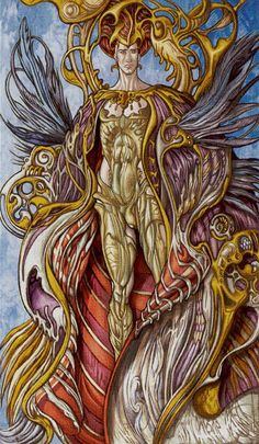 IV - L'empereur - Universal Fantasy Tarot par Paolo Martinello