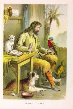 Life and adventures of Robinson Crusoe AND his cat, dog and parrot!