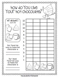 A Cupcake for the Teacher: Hot Chocolate {a Craftivity} and printables!