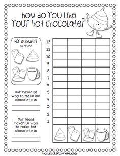 A Cupcake for the Teacher: Hot Chocolate & Writing Center Updates Plus Winners! Preschool Math, Kindergarten Math, Fun Math, Teaching Math, Math Activities, Winter Activities, Teaching Ideas, First Grade Classroom, 1st Grade Math