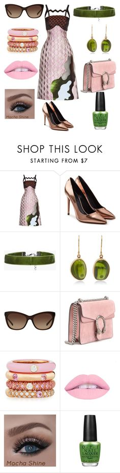 """Untitled #89"" by jokerkat on Polyvore featuring Mary Katrantzou, Alexander Wang, Boohoo, Jamie Joseph, Michael Kors, Gucci, Adolfo Courrier and OPI"