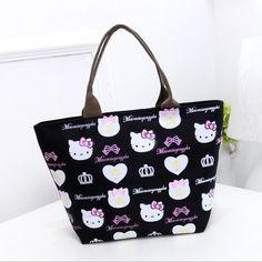 70546aef6c Fashion Women Bag Nylon Hello Kitty Cute Shoulder Bag Bolsa Feminina Bolsas Bags  Handbag Mochila sac