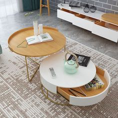 luxury round coffee table Tv Stand And Coffee Table, Round Coffee Table, Furniture Design, Luxury, Home Decor, Products, Living Room, Decoration Home, Room Decor