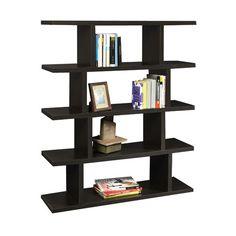 Northfield Espresso Block Bookshelf Convenience Concepts Free Standing Shelves & Bookcases