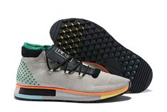 on sale 99928 b2113 Adidas Originals by Alexander Wang Run Mid Mens Sneakers - Grey Green