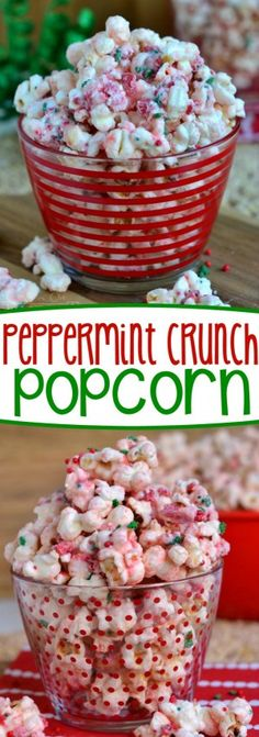 going to love the fabulous flavor and satisfying crunchy sweetness of this Peppermint Crunch Popcorn! It takes just minutes to prepare and would make the perfect gift this holiday season! Take this to your holiday party and let the compliments roll in! Popcorn Snacks, Flavored Popcorn, Popcorn Recipes, Candy Recipes, Snack Recipes, Peppermint Popcorn Recipe, Oreo Popcorn, Pop Popcorn, Ovaltine