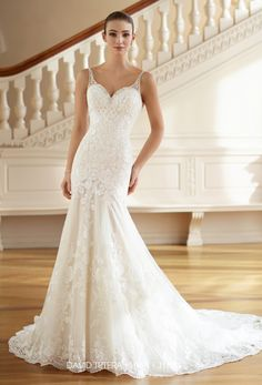 Featured Wedding Dress: David Tutera for Mon Cheri