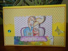 Birthday card with digital stamp