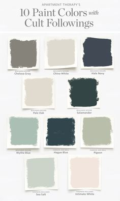 10 paint colors with cult consequences. , , Sea salt will kick your ass in TedKi … -… Green Paint Colors, Paint Color Schemes, Best Paint Colors, Interior Paint Colors, Paint Colors For Home, House Colors, Cabinet Paint Colors, Furniture Paint Colors, Cottage Paint Colors