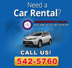 Make a Complete Reservation ON-LINE and you will receive an automatic 10% DISCOUNT! Abundance Transworld Transport & Traveltours, Inc. Give you a 10% Discount Car Rental this Summer. Specifications: * Vehicle : SENDAN , SUV , VAN , COASTER , BUS For more information or inquiries Email us: tgf2008@ymail.com Telephone: 542-5760 Fax No. : 838-33-39  Mobile: 09175899720 Look for Ms. Shirley Tubi Discount Car, Travel Tours, Car Rental, Manila, Telephone, Abundance, Coaster, Transportation, Ms