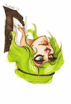 Green hair - somehow this reminds me of books i used to read as a kid