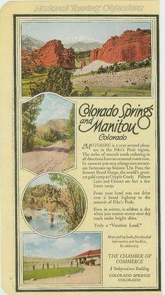 Colorado Springs Manitou Colorado Pike's Peak 1921 Auto Blue Book Advertising