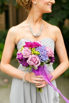 Bridesmaid #Bouquet | See the wedding on #SMP Weddings: http://www.stylemepretty.com/illinois-weddings/wheaton/2013/12/11/cantigny-park-wedding Kina Wicks Photography