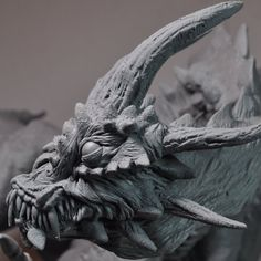 Demon Dragon WIP Face Closeup by AntWatkins on DeviantArt