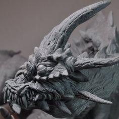 Demon Dragon WIP Face Closeup by AntWatkins on DeviantArt