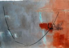 Abstract paintings: inspired by the breath, yoga and zen calligraphy - Michelle Cobbin