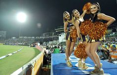 Bringing Cheer To The IPL - KKR cheerleaders pose for a picture during match 8 of the the Pepsi Indian Premier League 2013 between The Rajasthan Royals and the Kolkata Knight Riders held at the Sawai Mansingh Stadium in Jaipur on the 8th April 2013. #IPL