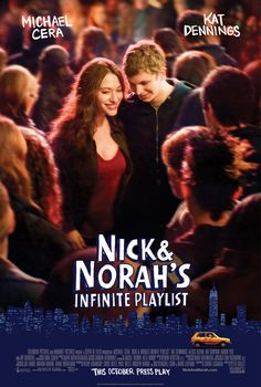 """nyc nightlife, bishop allen cameo, nick's gay friends, """"whatever you want it to be,"""" wish where's fluffy was a real band, """"we are the jerk-offs"""" caroline's drunkenness, soundtrack, feel-good"""