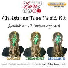 Christmas tree hairstyle kit