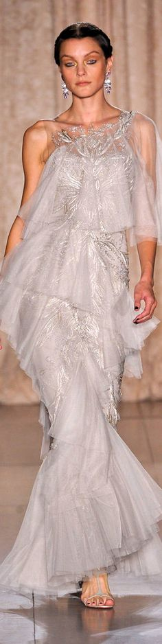 Marchesa Stunning Gown..luv the Silver Lace~~