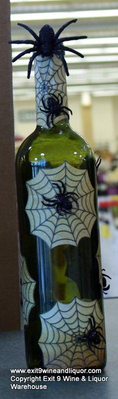 Spider Bottle Wine Bottle Decorating