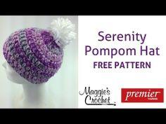 eb71b0b8154 Serenity Pompom Hat Free Crochet Pattern - Right Handed