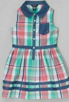 Take a look at this Light Teal & Chambray Plaid Dress - Infant, Toddler & Girls on zulily today! Stylish Dresses For Girls, Frocks For Girls, Dresses Kids Girl, Kids Outfits Girls, Cute Dresses, Girl Outfits, Dresses Dresses, Party Dresses, Summer Dresses