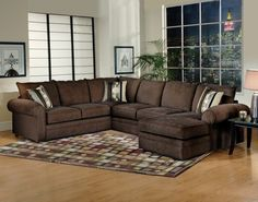 Serta Upholstery 8800 Olympian Brown Sectional Brown sectional