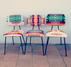 Navajo patterned chairs.