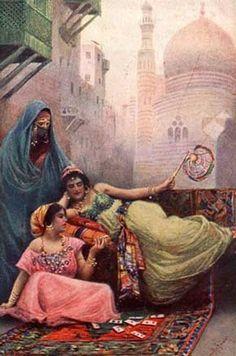 LEITURA CIGANA II - ARCANOS MENORES A Cartomante, tela de FAbio Fabbi (1861-1946)