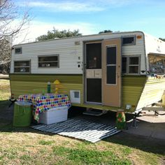 1976 Prowler : this is exactly like our camper! even the fancy green stripes...just like it!