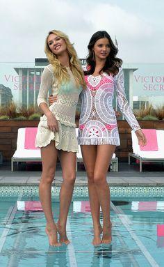 Candice Swanpoole and Miranda Kerr. Fave VS Angels.