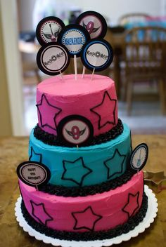Rockstar Party Cake